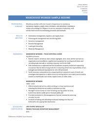 Enjoyable Warehouse Resume 11 Warehouse Worker Resume Samples