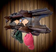 Rifle Coat Rack 100 Place Wood Gun Rack Bear Decor Shotgun Shell Hat Coat Rack Blue 83