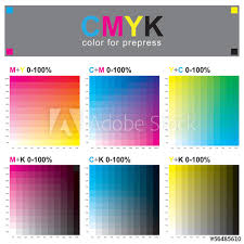 Adobe Cmyk Color Chart Cmyk Color Swatch Chart Subtractive Color Model Buy This