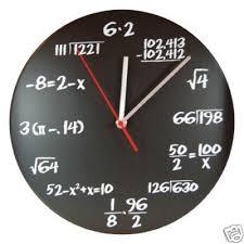 Dci Pop Quiz Math Chalkboard Graph Paper Wall Clock School Stuff
