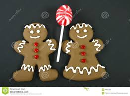 gingerbread man and woman.  And Gingerbread Man And Woman With And E