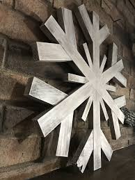 extra large wooden snowflake handmade