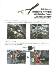 edgewater custom golf carts sub harness for gas precedent light kit instructions