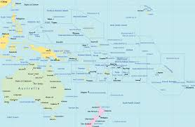 political map  pacific islands