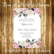 bridal shower invitation templates microsoft word bridal shower wedding invitation or bridal shower diy template vintage floral editable and printable microsoft word digital file instant