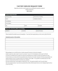 Excel Temp Service Maintenance Request Form Template Excel Service Free