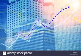 Rtx Index Chart Stock Index Graph And Chart In Modern Building Background