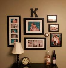 family photo wall arrangement