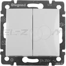 <b>Выключатель 2-клавишный Legrand</b> Valena белый 10АX | Купить ...
