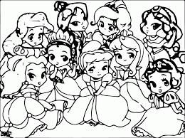 Cute Baby Disney Princess Coloring Page Coloring Home