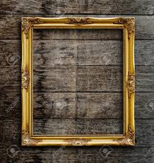 antique wood picture frames. Antique Wooden Gold Colored Frame Intricate Detail Stock Photo Wood Picture Frames