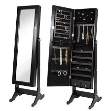 Mirrored Jewelry Cabinet Armoire Amazoncom Best Choice Products Mirrored Jewelry Cabinet Armoire