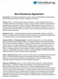 Free Nda Template Non Disclosure Agreement Nda Definition Free Template
