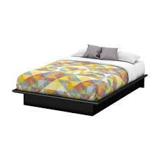 South Shore Step One Queen-Size Platform Bed in Pure Black 3070233 ...