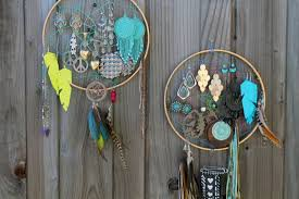 Dream Catcher Earring Holder DIY Basics Dreamcatcher Earring Caddy Brit Co 1