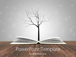 tree in powerpoint knowledge tree powerpoint template slidesbase