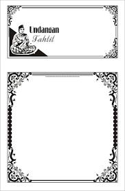 Koleksi bingkai undangan pernikahan ini dibagikan secara gratis. 60 Bingkai Undangan Nikah Tahlil Aqiqah Dll Download