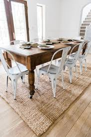 cool new farmhouse dining chairs dining table with metal chairs