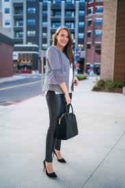 how to wear leather leggings to work