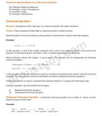 chapter notes chemical reactions and equations class 10 science 1 2 3
