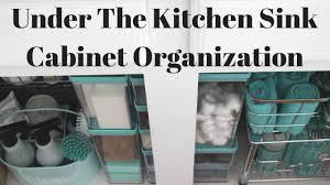 how to organize under the kitchen sink cabinet diy organizer storage full size