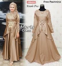 Baju Ke Pesta Pernikahan Muslim Style Gamis