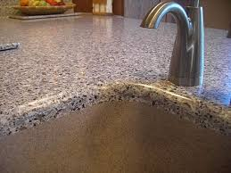 solid surface top seamless integral kitchen sink