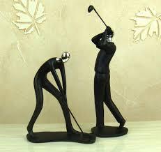google modern office sculpture. Golf Office Decor. Abstract Player Sculpture Handmade Resin Golfer Miniature . Decor Google Modern