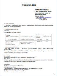 Resume format for experienced software developer doc