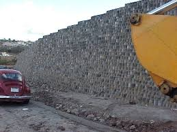 tire retaining wall side view of retaining wall built with discarded tires tyre retaining wall australia