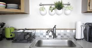 View in gallery Stylish contact paper backsplash