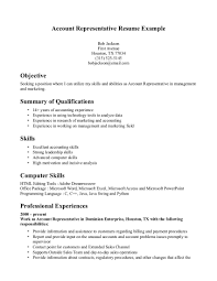 resume - Account Representative Resume
