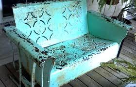 Antique Porch Glider Aqua Vintage Metal Porch Glider Antique Glider