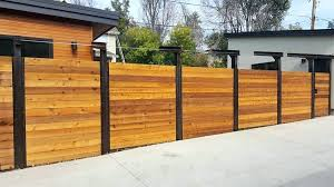 Horizontal Privacy Fence Modern Horizontal Privacy Fence Horizontal