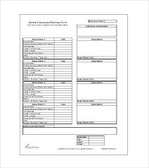Contractor Blank Estimate Sheet Template Job Free Download – Iinan.co