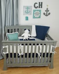 sophisticated dool white comforter sets for cribs with anchor crib bedding and gray wall paint