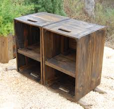 wood crate furniture. Wooden Crates/ Nightstand/ Pair Of Side Tables/ Reclaim Wood Crate Furniture O