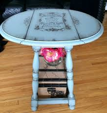 hand painted french side table reader