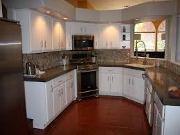 Contemporary Painting Cherry Kitchen Cabinets White Fabulous Intended Inspiration
