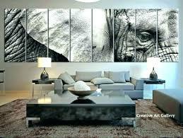 large living room wall decor ideas horizontal entrancing gorgeous art long canvas trendy