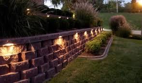 outdoor home structure wall patio lighting san antonio regarding throughout retaining lights decor 8