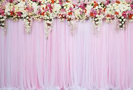 Wedding Photo Background Kate Pink Wedding Background White Flower Curtain Backdrop For Party Photography