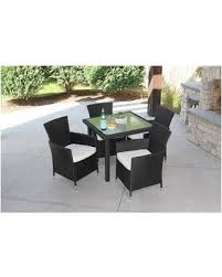 image modern wicker patio furniture. 5pc Outdoor Black Wicker Patio Dining Set (rec\u0027d Square) (Assembly Required Image Modern Furniture E