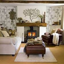 Tree Design Wallpaper Living Room Lounge Decoration Pictures Nice Cream Nuance Of The Homemade