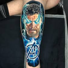 Tattoo Uploaded By Alex Rattray I Did This Great Fun Thor Piece