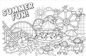 Small Picture The Page Summer Kid Beach Coloring Page On The Beach Coloring Page