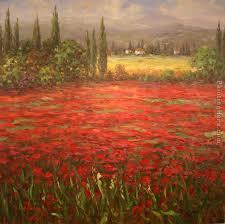 poppy field splendor painting unknown artist poppy field splendor art painting