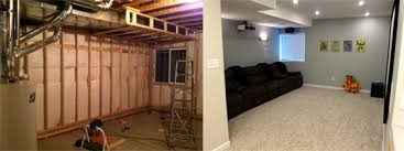 basement remodels before and after. Basement Home Theater Remodels Before And After S