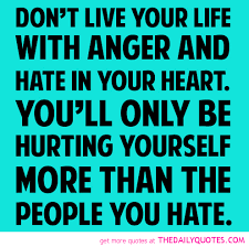 Hurting Yourself Quotes Best of Don't Live Your Life With Anger And Hate In Your Heart You'll Only