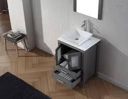 24 in bathroom vanity. Virtu USA Dior 24 Single Bathroom Vanity Set In Zebra Grey H